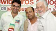 Naylon Barbosa, Carlos Augusto e Jaques Wagner.