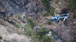 Destroços do avião da Germanwings nos Alpes franceses.