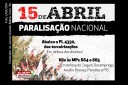 Cartaz do ato público contra PL 4330 e MPs 664 e 665.