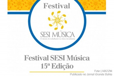 Cartaz do 'Festival SESI Musica 2015'.