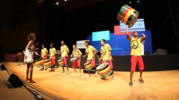 Evento foi marcado por performance do grupo Olodum.