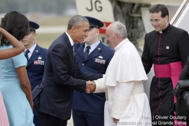 Barack Obama e o papa Francisco.