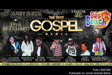 Cartaz do 'The Best Gospel Bahia'.Cartaz do 'The Best Gospel Bahia'.