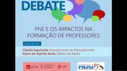 Cartaz do Debate do Dia do Professor.