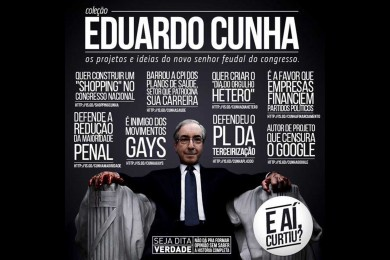 Cartaz do Movimento 'Fora Eduardo Cunha', publicado no Facebook.
