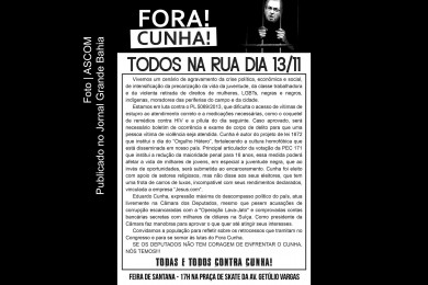 Cartaz do Movimento 'Fora Eduardo Cunha'.