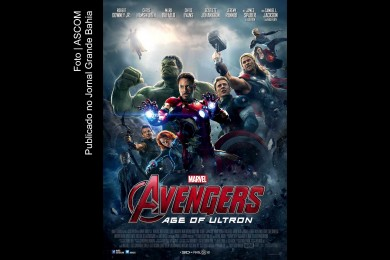 Cartaz do filme 'Os Vingadores – Era de Ultron'.