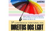 Cartaz da 3ª Conferência Territorial dos Direitos das LGBT.