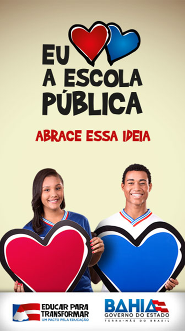 Banner de campanha publicitária do Governo da Bahia, veiculado no Jornal Grande Bahia, de 16 de maio a 15 de junho de 2016.