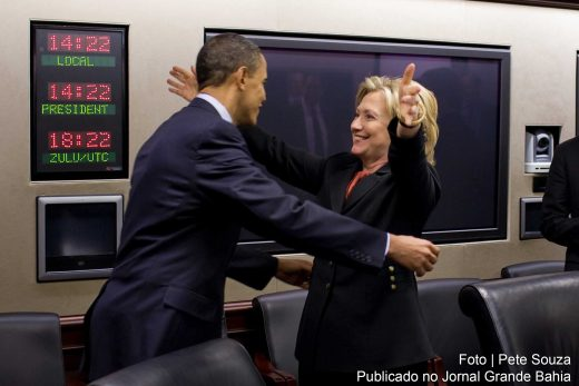 Hillary Clinton recebe apoio formal do presidente Barack Obama.