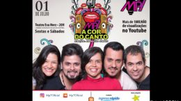 Cartaz anuncia show do Grupo Vocal MP7.