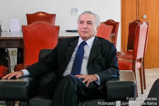 Presidente interino Michel Temer.