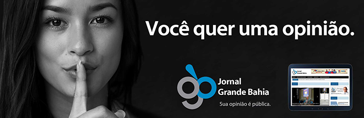 Banner do Jornal Grande Bahia no formato 370x120 pixel, referente a campanha 'Você quer uma opinião', veiculado em 5 de julho de 2016.