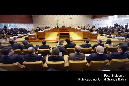 Sessão plenária do Supremo Tribunal Federal (STF).