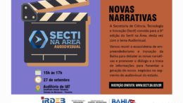 Cartaz anuncia debate sobre audiovisual'.