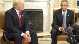Encontro entre os presidentes Barack Obama e Donald Trump.