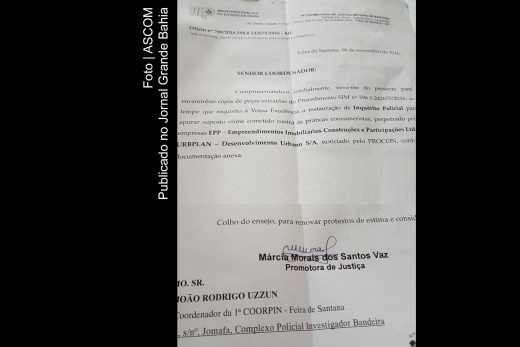 Documento do MP determinando abertura de inquérito policial contra a EEP e a Urplan.