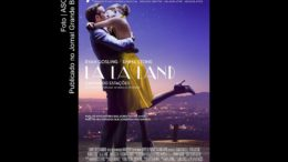 Cartaz do filme La La Land. Obra cinematográfica concorre ao Oscar.