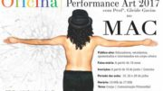 Cartaz anuncia oficina de Performance Art 2017.
