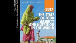 Capa do Relatório The State of Food Security and Nutrition in the World 2017 (O estado da segurança alimentar e nutrição no mundo em 2017).