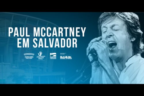 Cartaz do show de Paul McCartney.